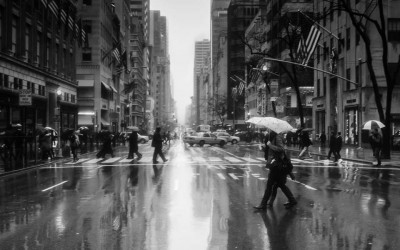 'Raining On 5th Avenue' by Leanne Staples, New York City, USA