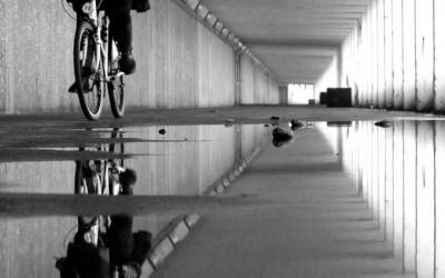 'Bottle Alley Cyclist' by  LB Copleston, UK