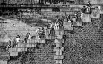 'La diagonale des quais de Seine' by Frank Annatar, France