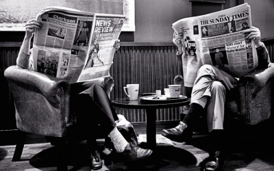 'Coffee and Papers' by Andy Peters, UK