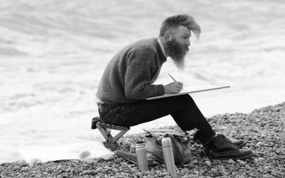 'Seaside Artist' by Lucy Simpson, UK