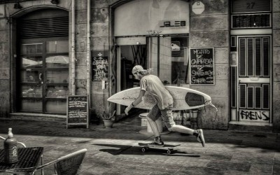 'Surf skate, skate surf ... Anyway let's go' by Fred Fogherty, Spain